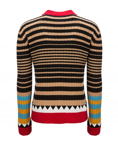Striped Crew Neck Knit