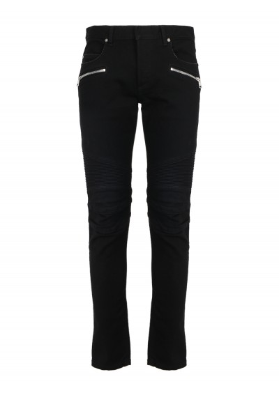 Tapered Ribbed Jeans