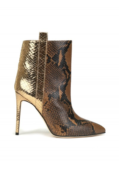 Snake Metal Ankle Bootie