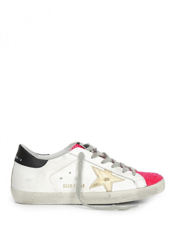 pink and gold golden goose
