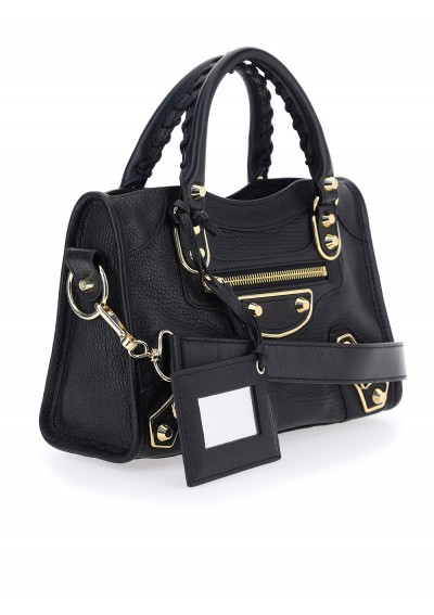 Classic Metallic Edge City Mini Handbag